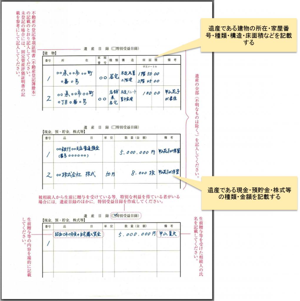 遺産分割調停書雛形 書き方3
