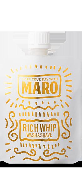 MARO グルーヴィー 洗顔料 リッチホイップ ウォッシュ&シェーブ 100g