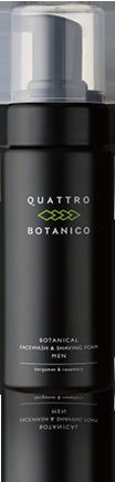 クワトロボタニコ (QUATTRO BOTANICO) 【 男性 エイジングケア 泡 洗顔 】 ボタニカル フェイスウォッシュ & シェービング フォーム ( メンズ スキンケア ) 男性用 化粧品