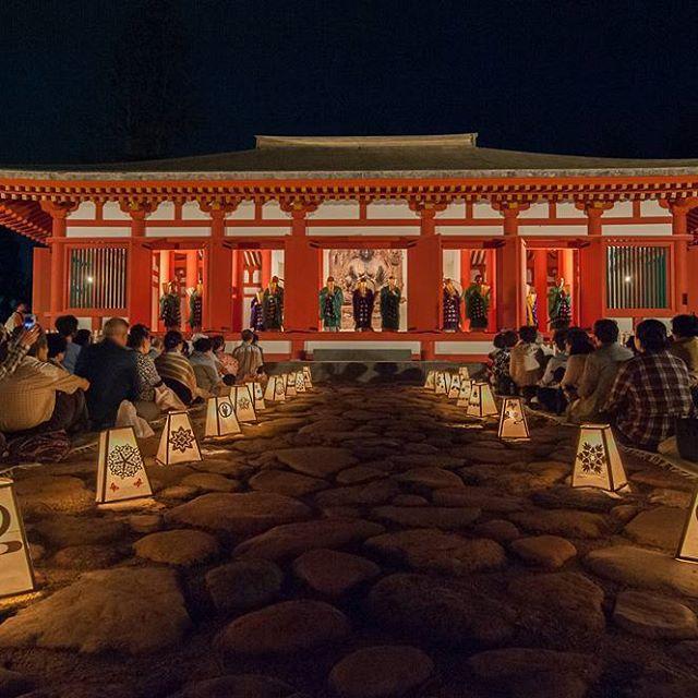 史跡慧日寺跡(ともし火と仏教声楽の夕べ)