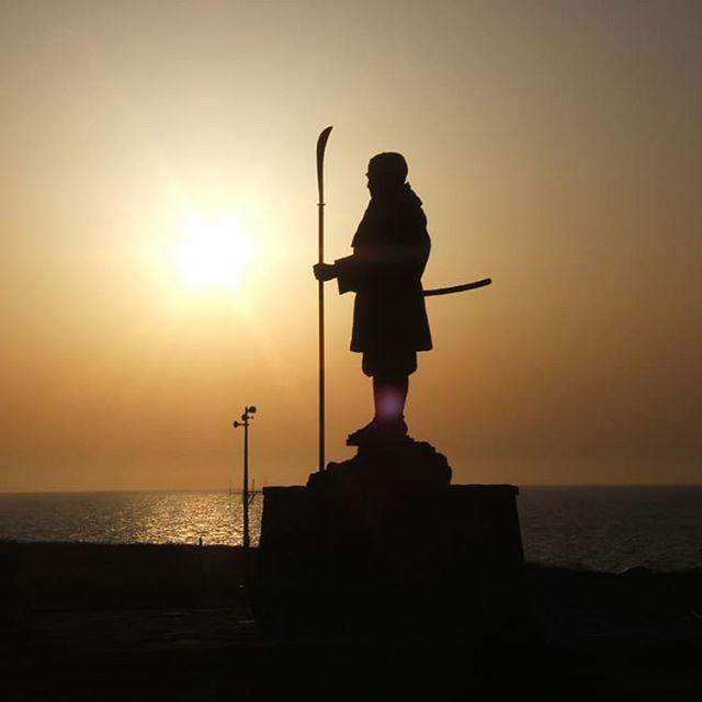 弁慶岬(夕陽)