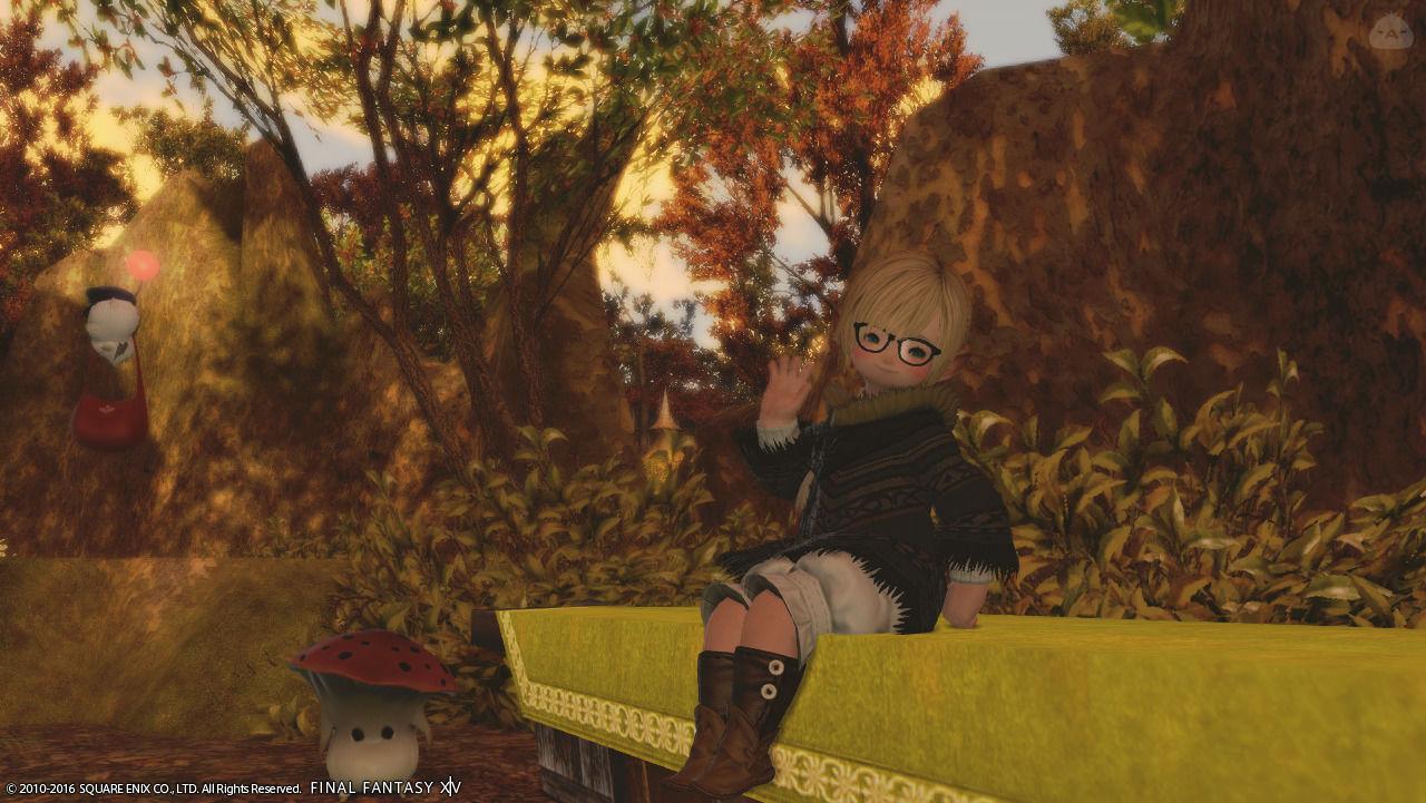 ララっこ初期装備で秋らしく