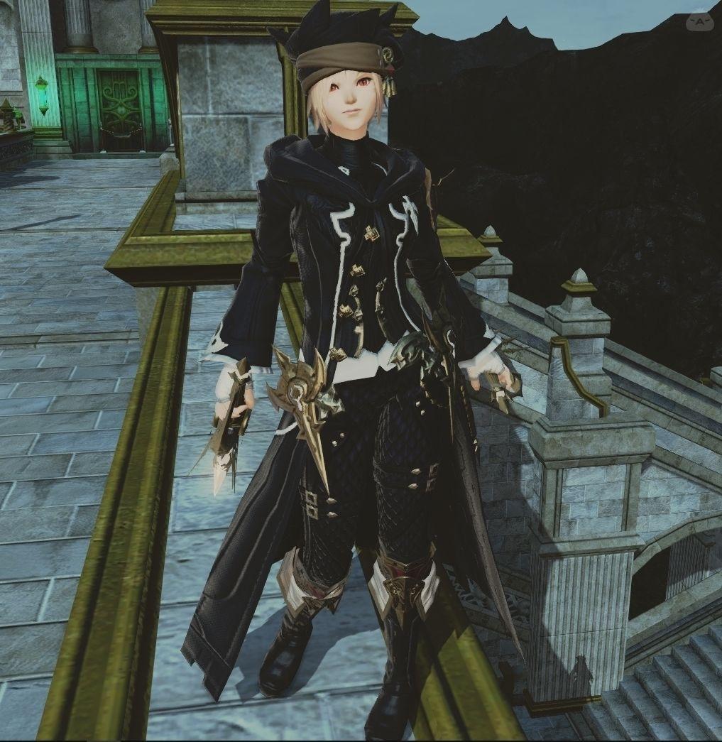 黒コート忍者