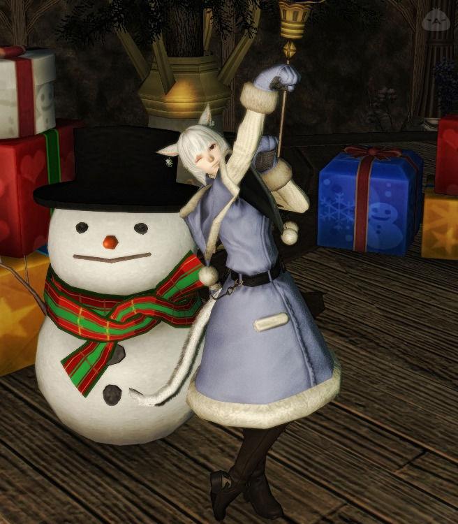 手袋付きクリスマスローブ