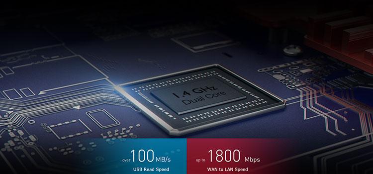 1.4GHzデュアルコアプロセッサーと512MBメモリで余裕の処理性能