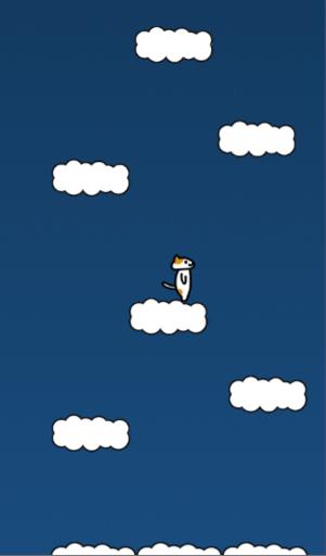 ジャンプで上を目指すゲーム