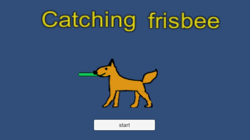 Catching frisbee