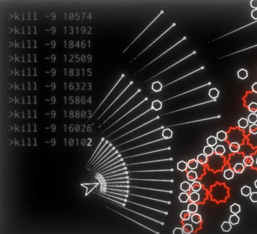 ProcessKiller(敵を倒して資源を集めて銃口を「ふやす」STG)