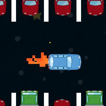 宇宙で駐車スペースに駐車するゲーム