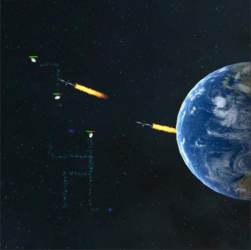 隕石迎撃シューティング