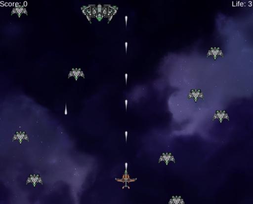 平凡な縦2Dシューティングゲーム