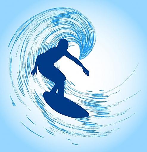 サーフィンでサメを避けろ!サーフィンゲーム
