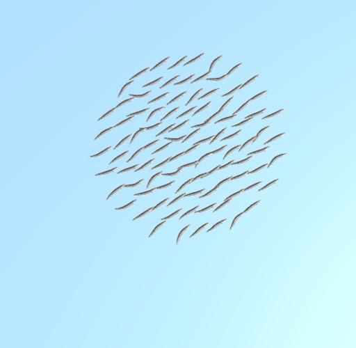 魚群シミュレーション