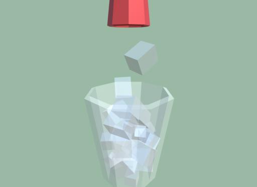 男子小学生なので、ドリンクバーで氷をギリギリまで入れてしまう