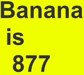 Banana is 877