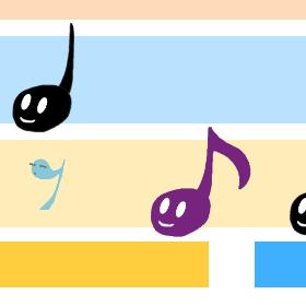 楽譜で音ゲーBeta「かえるの歌」