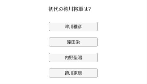 徳川将軍クイズ