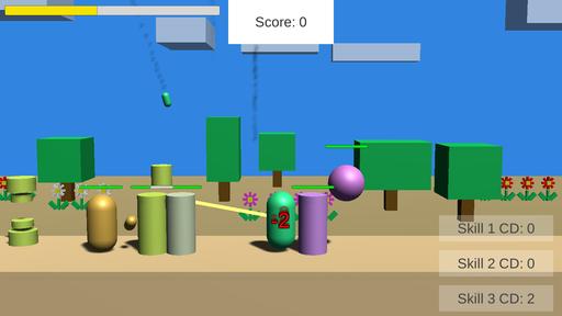3DObjectでアクションゲーム!