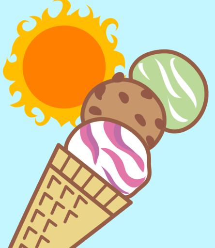 アイスクリームが溶ける前に