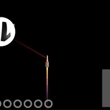 ロケットで10個のデブリを砕くゲーム
