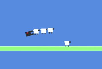 逃げるクローン羊