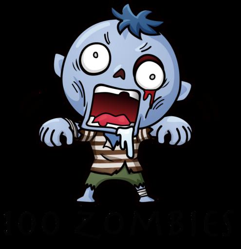 ゾンビを蹴散らせ!100 zombies
