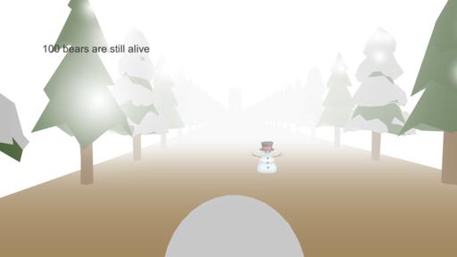 雪玉でクマをやっつけろ