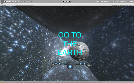 Go to the earth