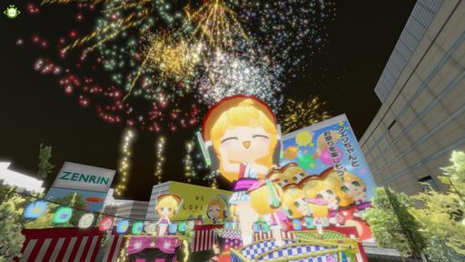 クエリちゃん祭りと花火