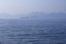 釜山の町が見えてくる