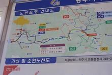 田舎バスの路線図