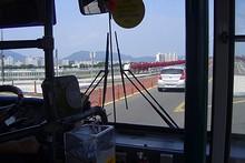 バスで北方向へ