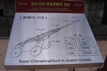 昔の砲の説明