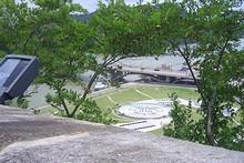 お城の隣にある音楽噴水