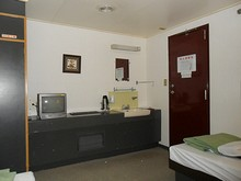 テレビと洗面所つき 風呂は船内の共同浴場へ