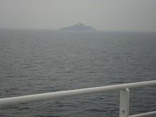 船の中で一泊 翌日の昼ごろ中国近海に到達