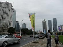 航空券を買いにバスで市役所周辺の新市街へ。高層ビルが多い
