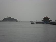 桟橋と小青島