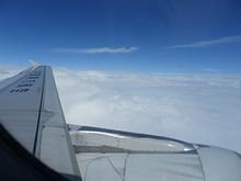 上空の様子。だいぶ曇っています
