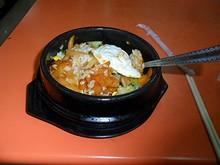 夕飯の田園風石鍋ご飯