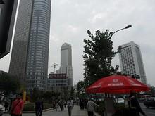 市中心の高層ビル群