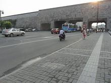 夕方の集慶門