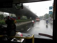 南京駅から路線バスに乗って出発