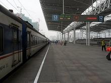 上海駅に到着