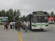 陳家鎮のバスターミナルに到着