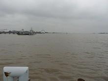 横沙港から見た長江