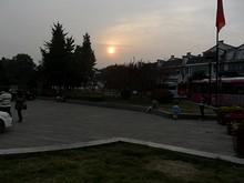 中華門で見た夕日