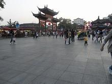 夫子廟前の広場