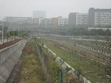 陸橋の上から見た寧銅線