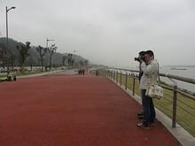 燕子矶公園から西の長江沿いはず~っと公園になっていました